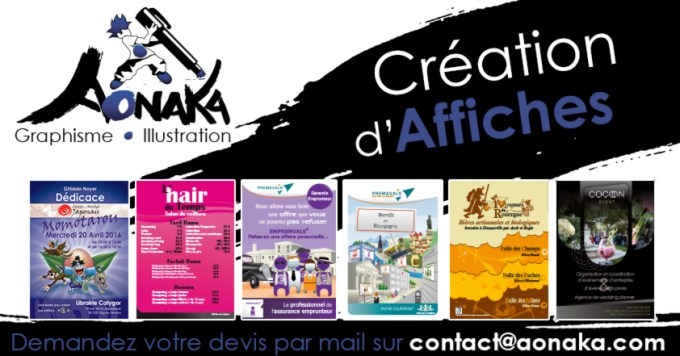 Aonaka - Création d'affiches