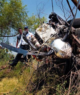 propeller wreckage