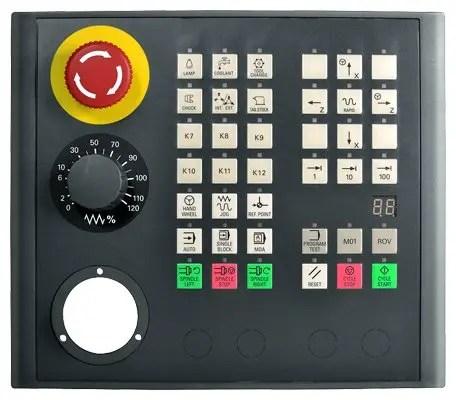 SINUMERIK 808D MCP vertical with handwheel slot