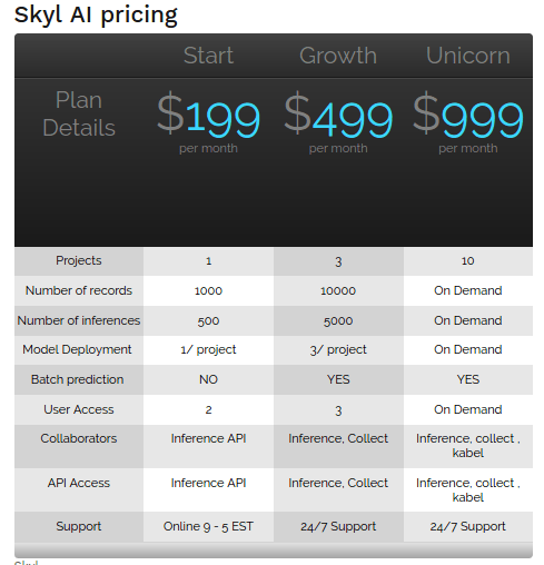 skyl ai pricing