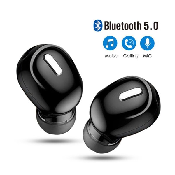5.0 Mini Wireless Bluetooth Earphone Sport Gaming Headset with Mic Handsfree Headphone Stereo Earbuds For Iphone Samsung Xiaomi 1