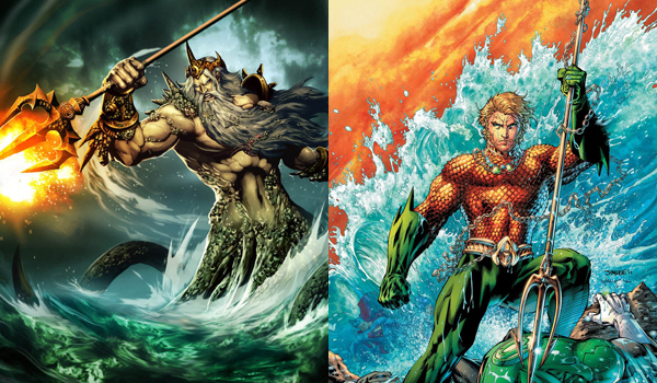 The Justice League as the Greek Gods