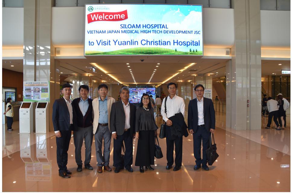 邀請越南Vijatech Co.參訪慧誠智醫、員林基督教醫院、中國醫藥大學、科達製藥股份有限公司