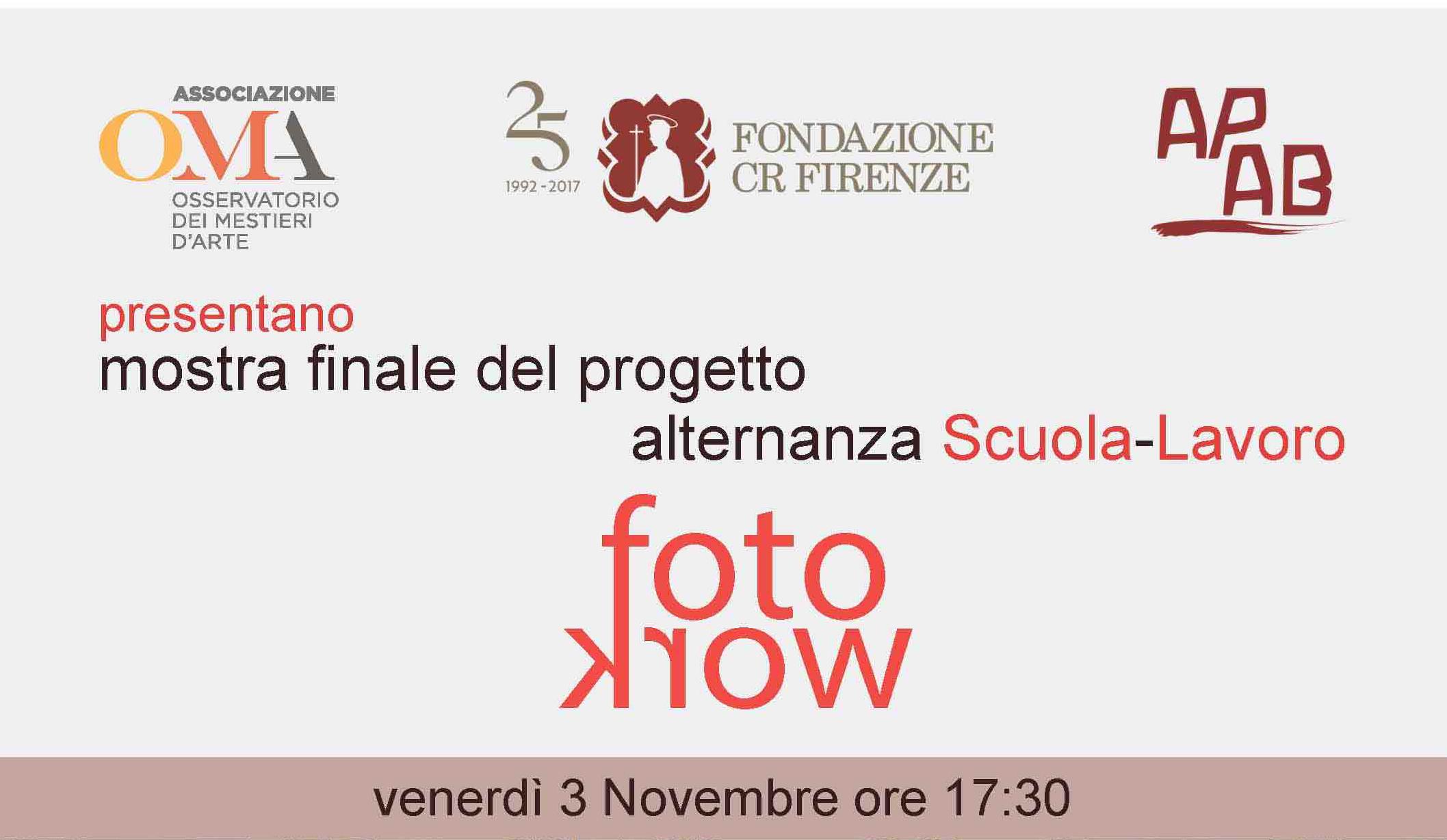 FotoWork: Evento Finale Su Alternanza Scuola-Lavoro 3 Novembre 2017 A Firenze