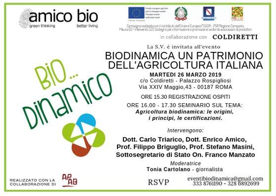 Bio… Dinamico. Secondo Seminario A Roma Il 26 Marzo