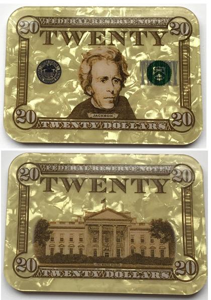 $20 Andrew Jackson Poker Plaque