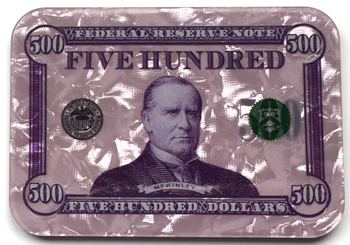 $500 William McKinley Poker Plaque