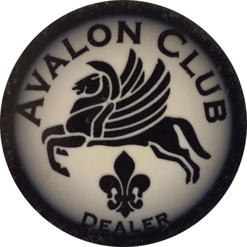 Avalon Club Dealer Button
