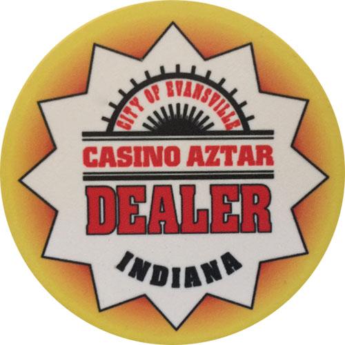 Casino Aztar Poker Dealer Button