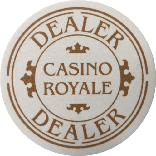 Casino Royale Poker Dealer Button