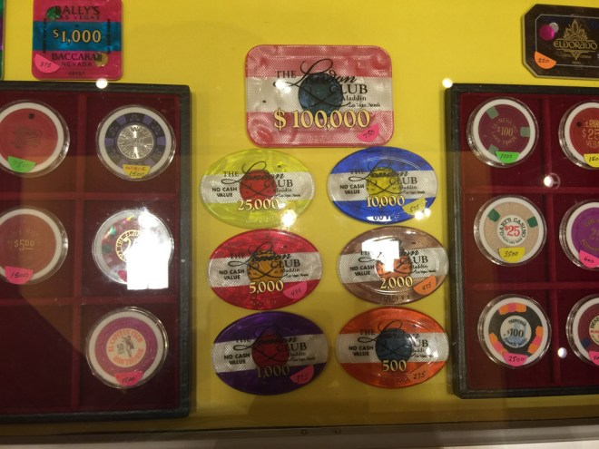 Aladdin plaques and casino chips