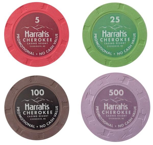 Harrahs Cherokee Casino Paulson Poker Chips