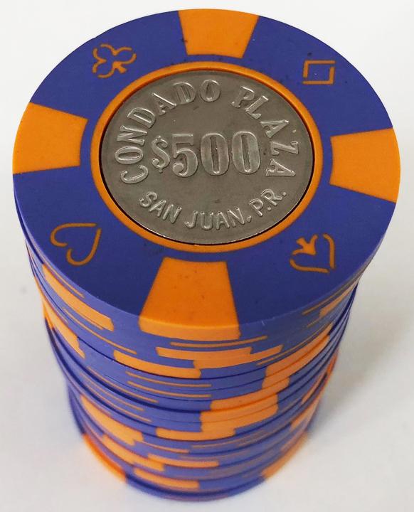 Condado Plaza Casino Bud Jones Poker Chips