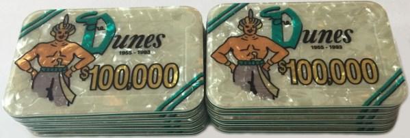 Dunes Casino Las Vegas $100,000 Plaques