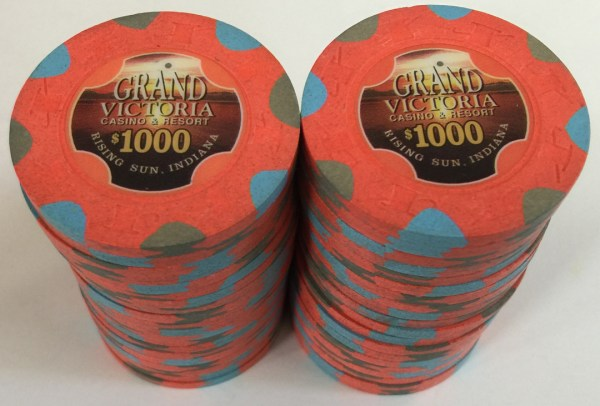 Grand Victoria $1000 Paulson Poker Chips
