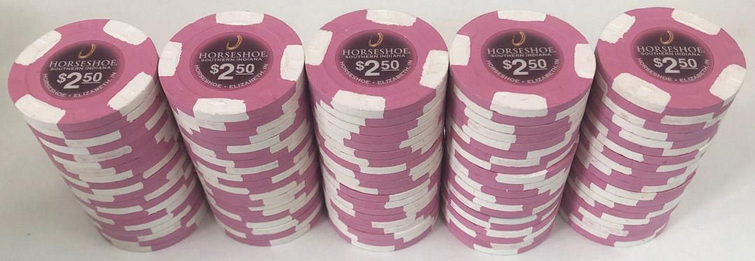 Horseshoe Casino Indiana $2.50 Paulson Poker Chips
