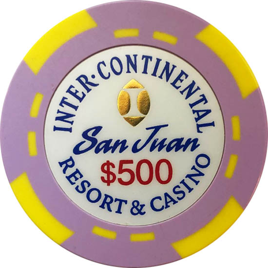 InterContinental Casino Bud Jones 500 Poker Chip Set