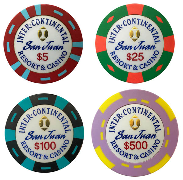 InterContinental Casino Bud Jones Sample Chips
