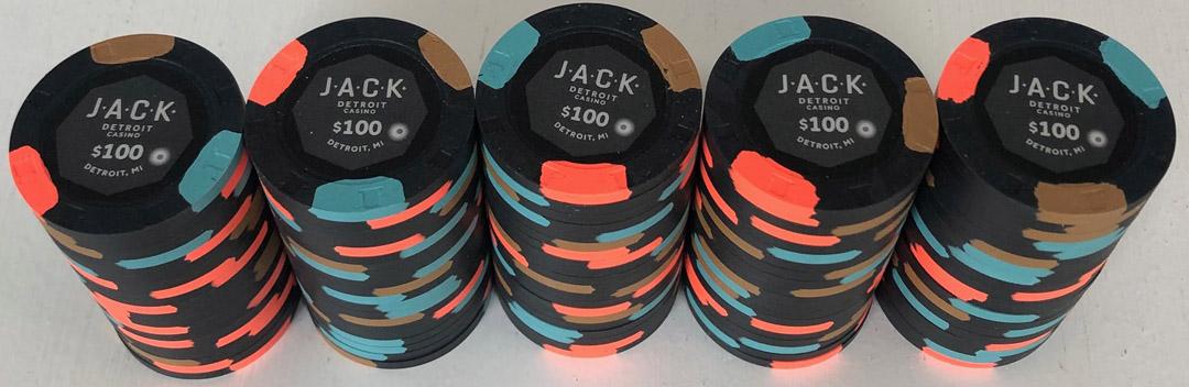 Jack $100 Paulson Casino Chips