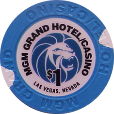 $1 MGM Las Vegas Casino Chip