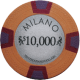 Milano Poker Chips - $10000 Milanos chips