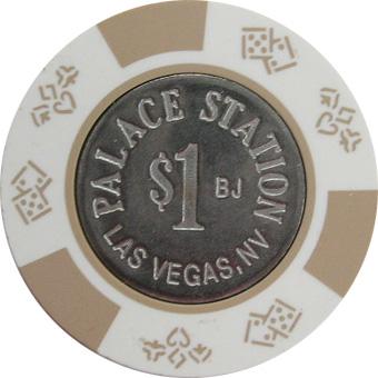 Palace Station Bud Jones $1 Las Vegas Casino Chip