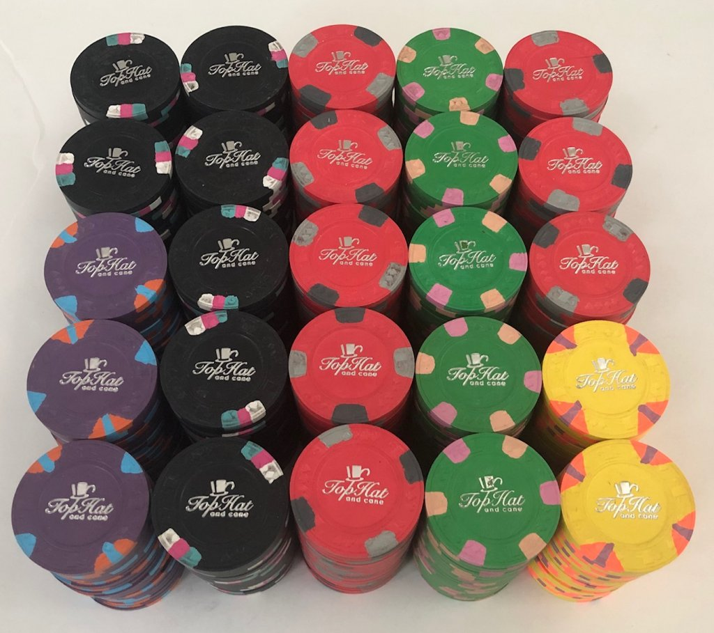 500 Paulson Top Hat Cane Ncv Poker Chips Apache Poker Chips