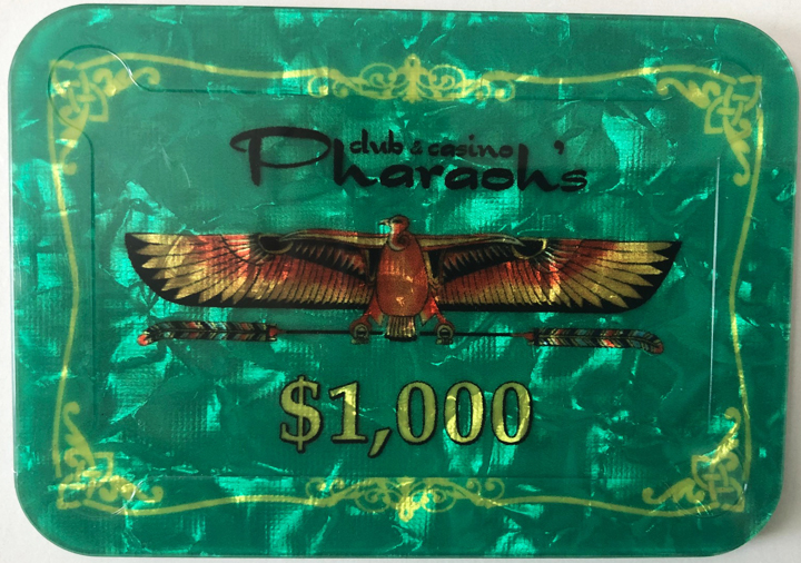 Pharaoh's Casino $1000 Poker Plaque