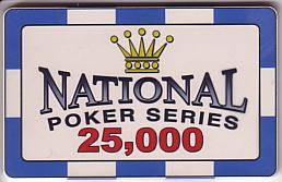 National Poker Series Plaque