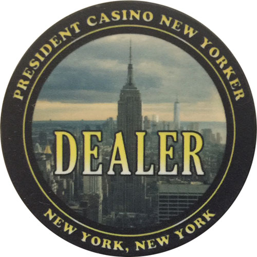 President Casino New Yorker Poker Dealer Button