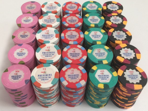 President Casino On The Admiral Paulson Poker Chips