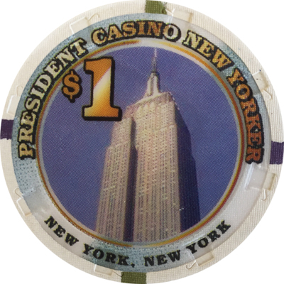 President New Yorker Paulson Poker Chips