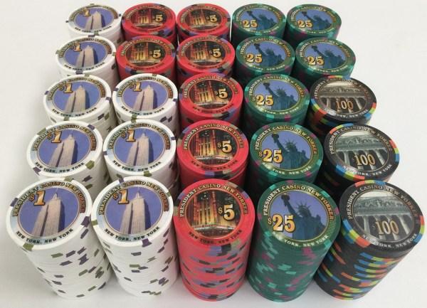 President New Yorker Paulson Poker Chips