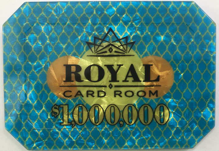$1,000,000 Royal Poker Plaque