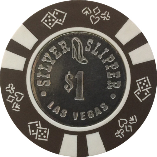 $1 Silver Slipper Las Vegas Casino Chip