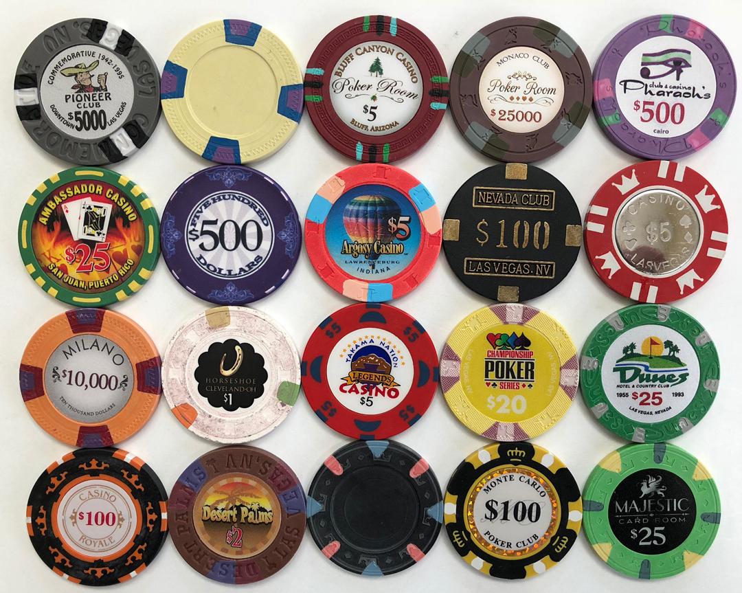 Super Poker Chip Sample Set