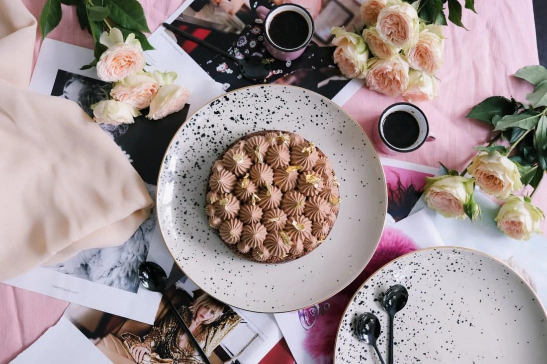 Easy Chocolate Crunch Cake with milk chocolate whipped ganache - A Parisian Journey