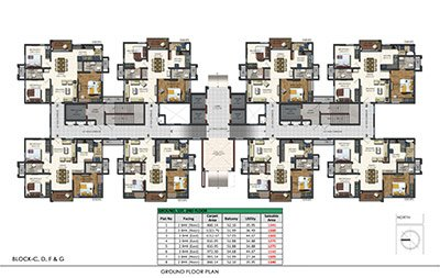 Aparna sarovar zenith in nallagandla ground floor Plan
