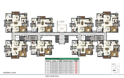 Aparna Sarovar Zenith nallagandla apartment first floor plan 11