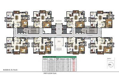 Aparna Sarovar Zenith nallagandla apartment first floor plan 7