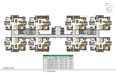 Aparna Sarovar Zenith 6th floor plan Nallagandla