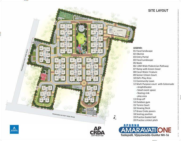 Aparna Amaravati one gated community flats in vijayawada site layout