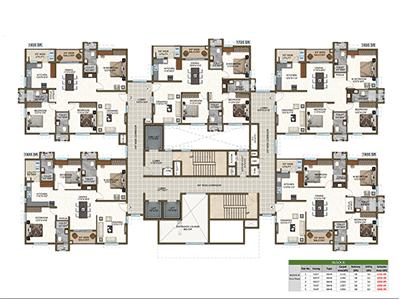 Block B first floor plan