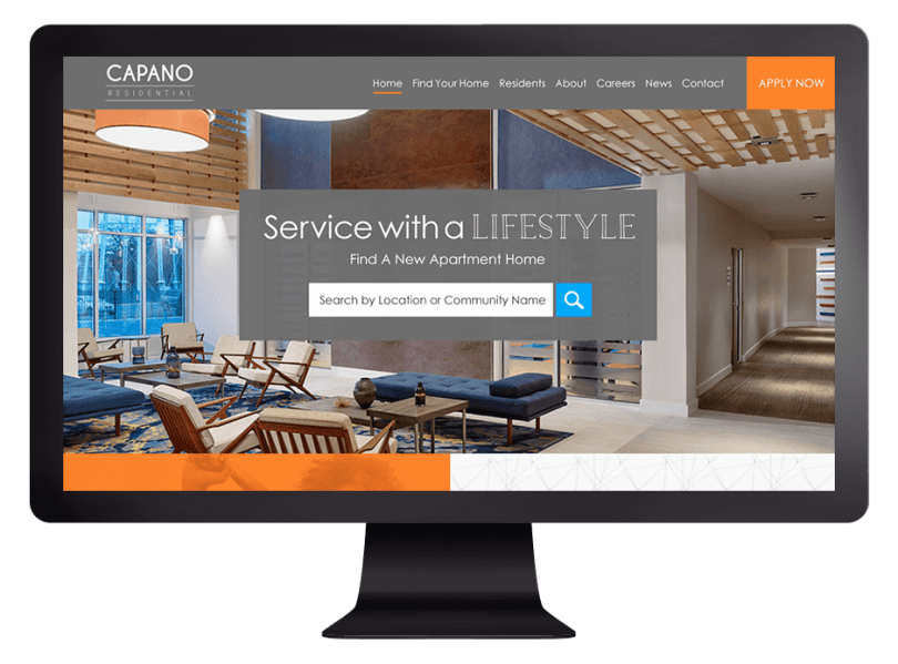 Property Management Website Design by Resident360