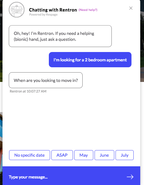 Leasing chatbot