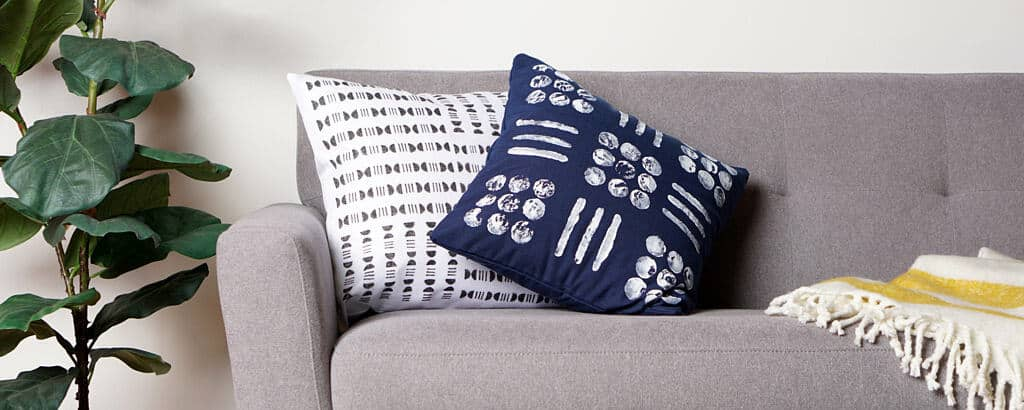 Stamp Your Own Mudcloth Pillows