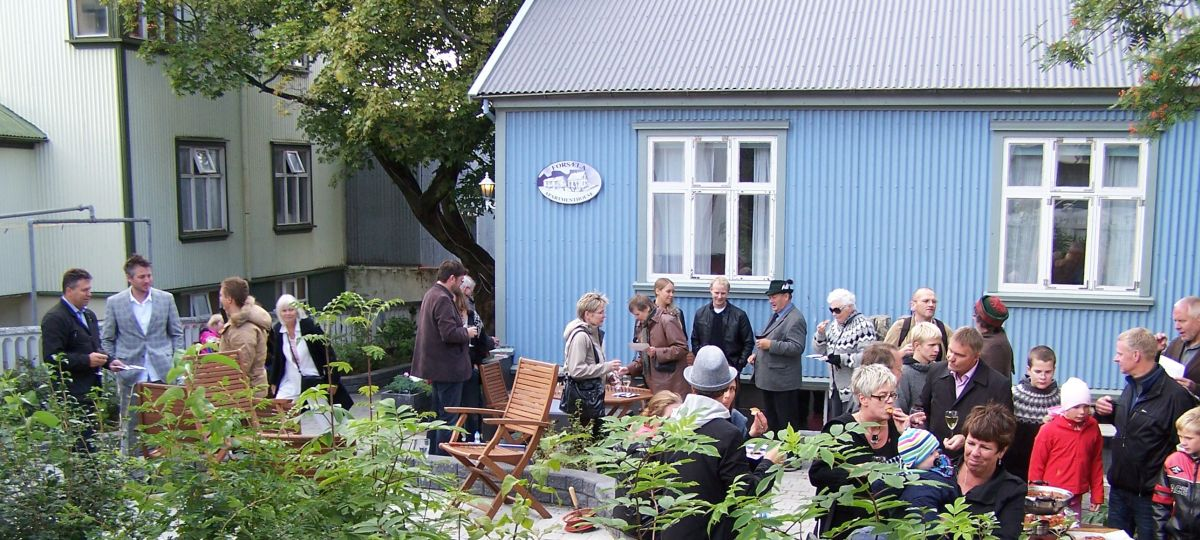 Gathering on the terrace