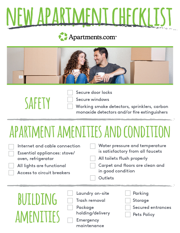 Things To Know When Touring A New Apartment Tips Checklist Apartments Com