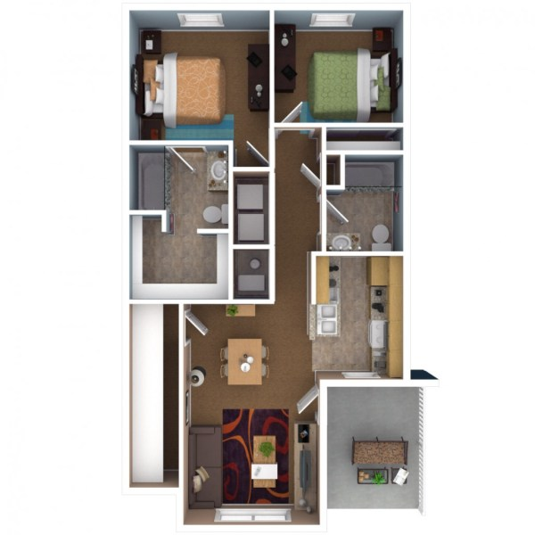 Apartments In Indianapolis   Floor Plans 2 Bedroom Apartment Floor Plan
