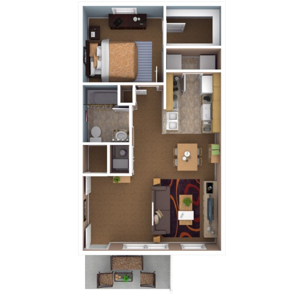 Apartments In Indianapolis   Floor Plans 1 Bedroom
